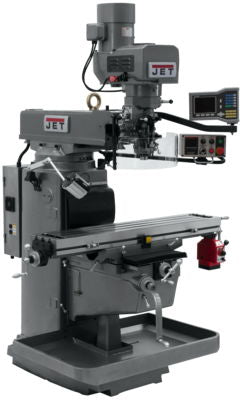 JTM-1050EVS2/230 Mill With 3-Axis Acu-Rite VUE DRO (Quill) With X-Axis Powerfeed