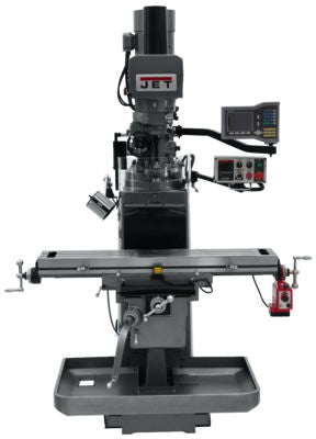 JTM-1050EVS2/230 Mill With 3-Axis Acu-Rite VUE DRO (Quill) With X-Axis Powerfeed and Air Powered Dra