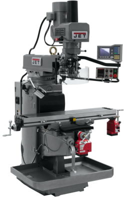 JTM-1050EVS2/230 Mill With 3-Axis Acu-Rite VUE DRO (Quill) With X and Y-Axis Powerfeeds and Air Powe
