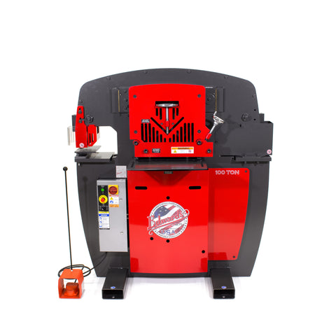 100 Ton Ironworker 3 Phase, 230 Volt With Accessory Pack