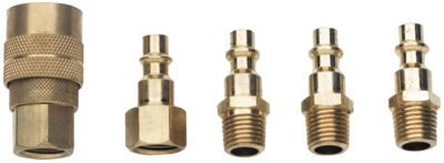 "JSG-2008, 5-Piece Quick Coupler Set, 1/4"" NPT Fittings"