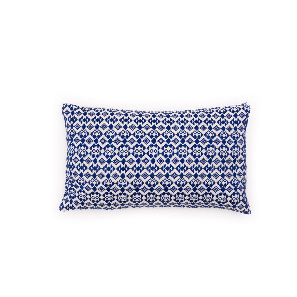 Ixteca JOV Cushion - royal blue/cream