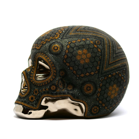 Huichol Peyote Skull - Unique Piece
