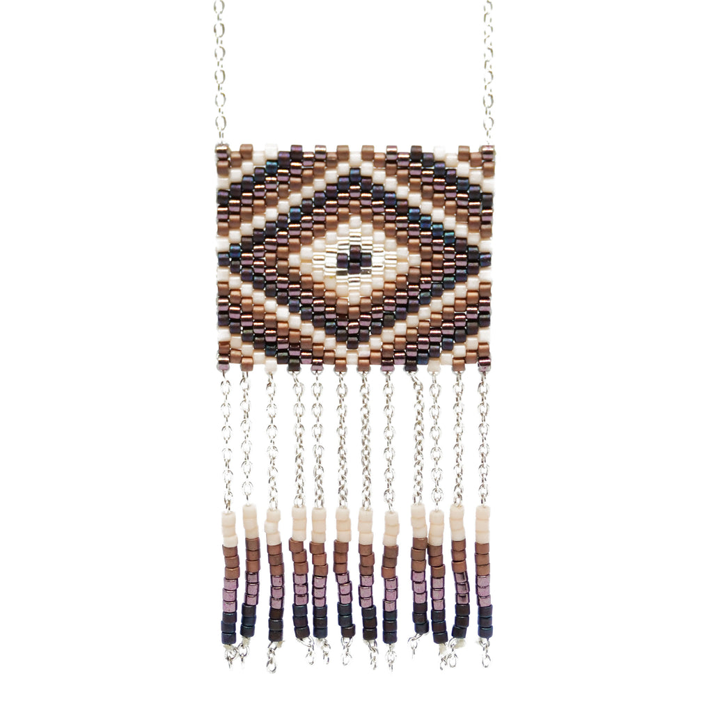 Peyote necklace with tassels