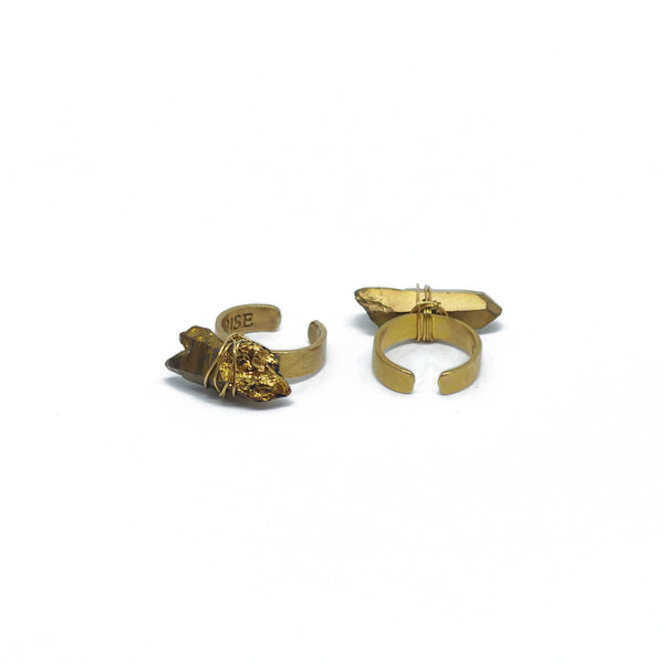 Matte ring with irregular stones