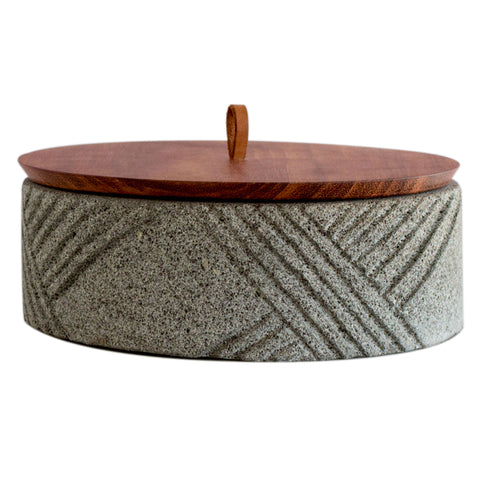 Tortillero - Lava rock Bread container