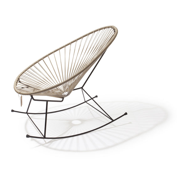 Ixteca design rocking chair acapulco Beige