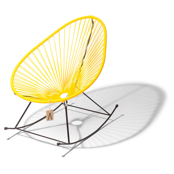 Ixteca design rocking chair acapulco Yellow