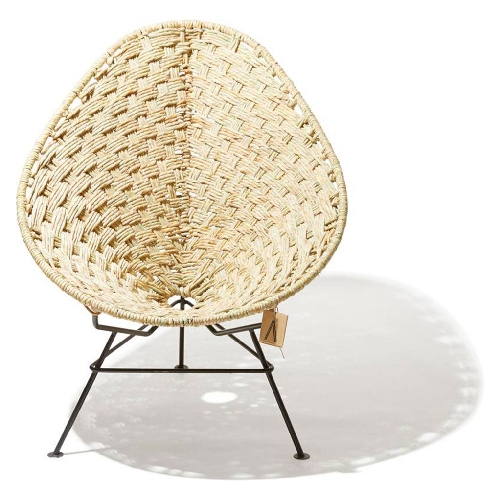 Ixteca design natural fiber acapulco chair handmade Hemp White frame