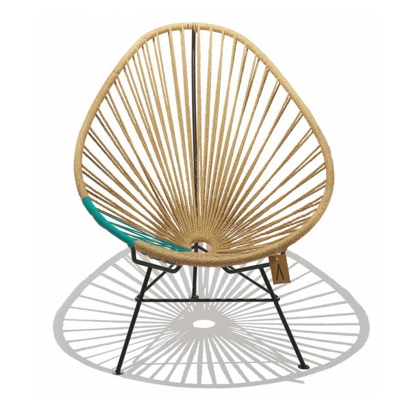 Ixteca design natural fiber acapulco chair handmade Hemp & Turquoise