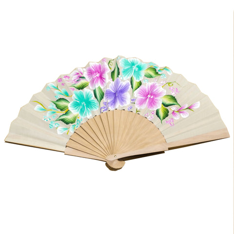 Hand painted flowers Fan