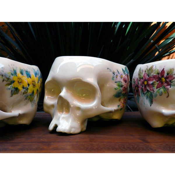 Flower-pot hand-painted Skull