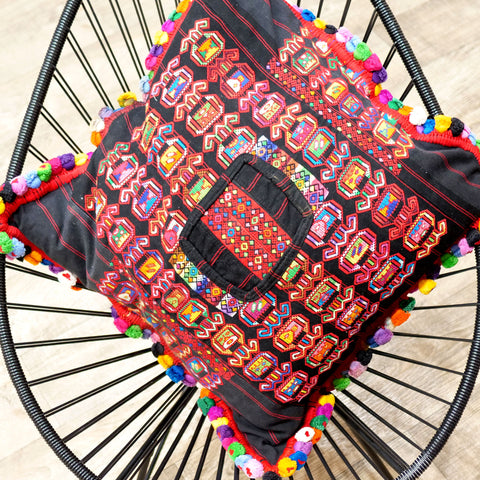 Handmade Mayan Cushion stripes