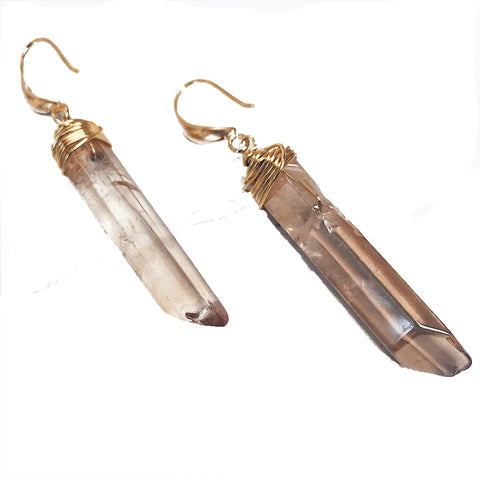 stones, earrings, bohemian jewellery, quartz, ixteca