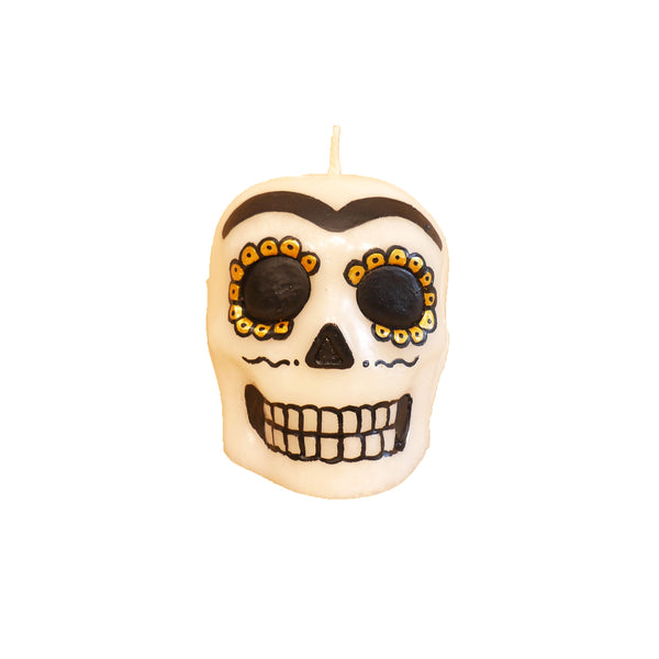 Sugar Skull Candle with vanilla scent