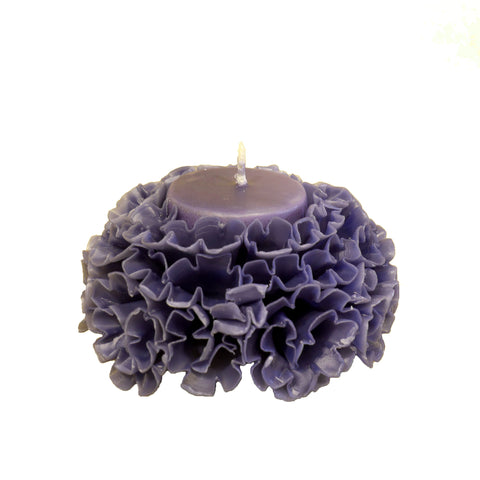 Carved Blossoms Candle with vanilla scent - Small