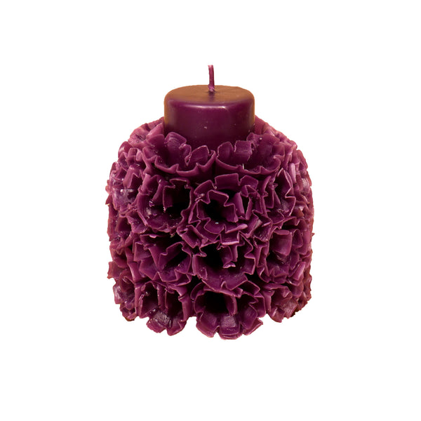 Carved Blossoms Candle with vanilla scent - Large