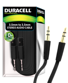 DURACELL 10ft. FABRIC AUXILLARY CABLE