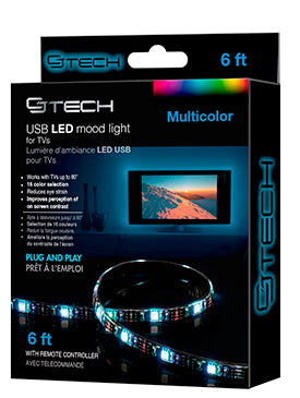 USB LED TV Mood Light - Reduce Eye Strain with a Cool Glow!
