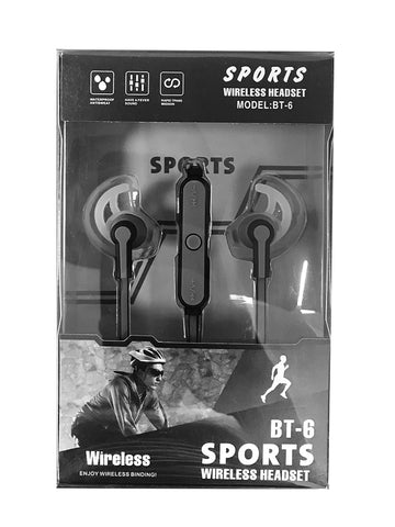 BT 6 Sports Wireless Headset