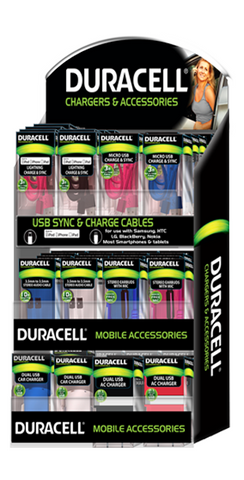 Duracell 74 pcs counter display