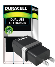 Duracell dual usb 2.1 amp wall charger cetl certified