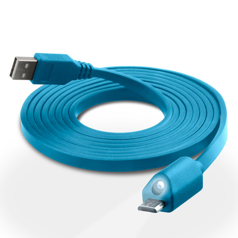 Lighted Micro USB Charge & Sync Cable with Capacitive Touch Control