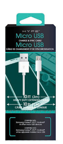 10 FT MICRO USB CHARGE/SYNC CABLE