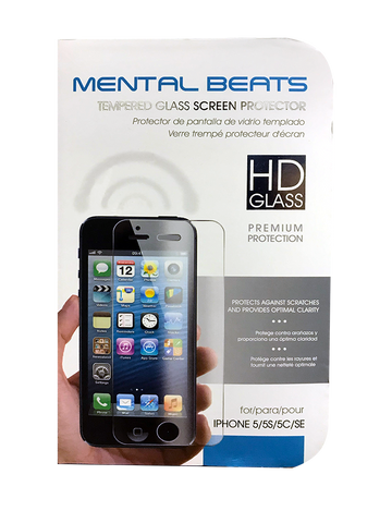 iPhone 5, 6, 6 Plus & 7 Premium Tempered Tough HD Glass Screen Protector