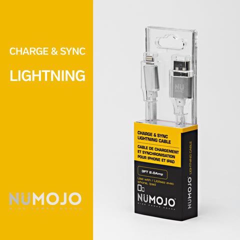 NUMOJO CHARGE & SYNC LIGHTNING CABLE