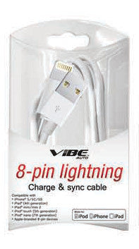 3FT MFI CERTIFIED 8-PIN CHARGE & SYNC CABLE - IPHONE 5