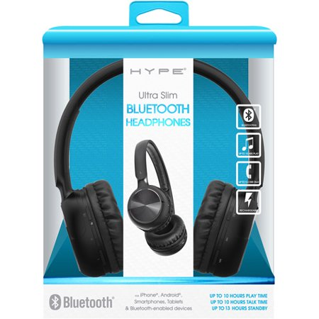 Hype Ultra-Slim Bluetooth Headphone - Black