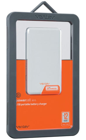 Ventev Powercell 3015 - 3000mAh 1 USB Port Battery & Charger