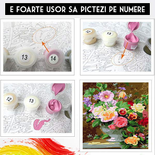 Kit Pictura Numere - Spectacol floral