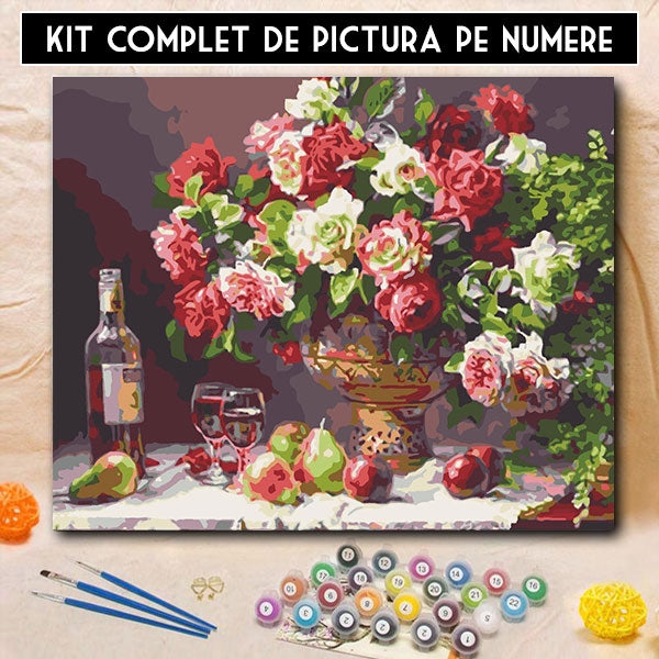 Kit Pictura pe Numere - Decor Vintage