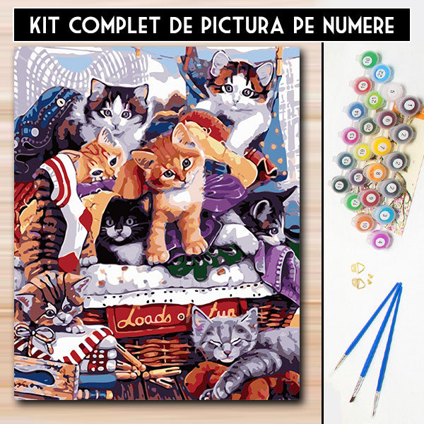 Kit Pictura pe Numere - Ghemotoace Jucause