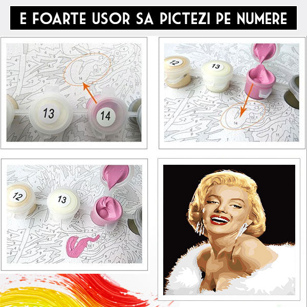 Kit Pictura pe Numere - Marilyn