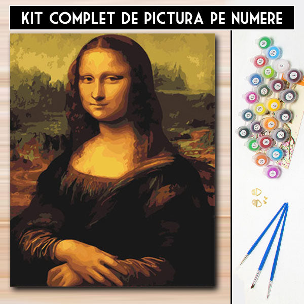 Kit Pictura pe Numere - Mona Lisa