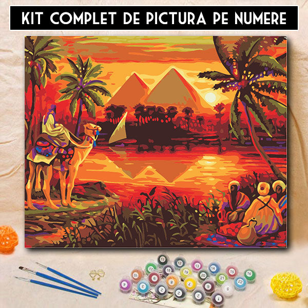 Kit Pictura pe Numere - Taina Piramidelor