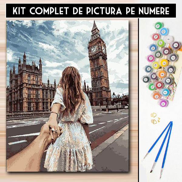 Kit Pictura pe Numere - Vino cu mine in Londra