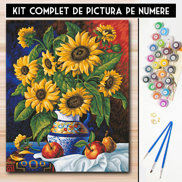 Kit pictura pe numere - August