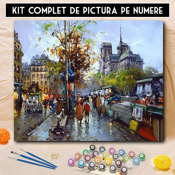 Kit pictura pe numere - Dupa Ploaie