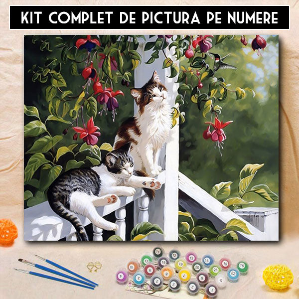 Kit pictura pe numere - Relaxare in Paradis
