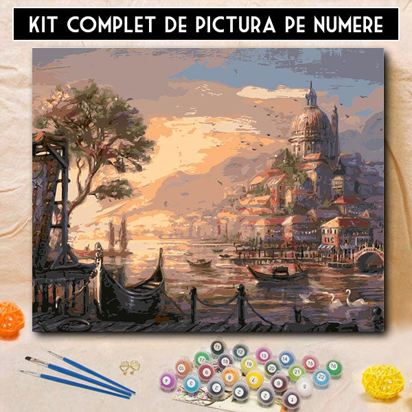kit pictura pe numere apus