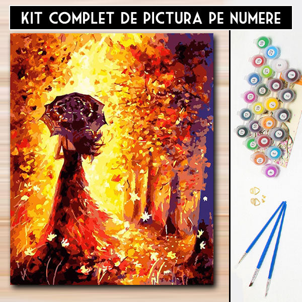 Kit Pictura pe Numere - Ploaie