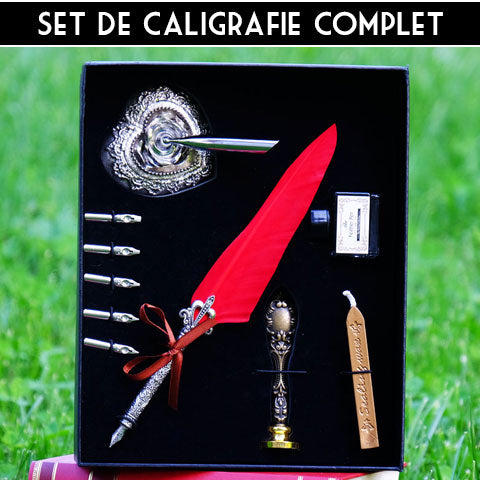 set de caligrafie retro