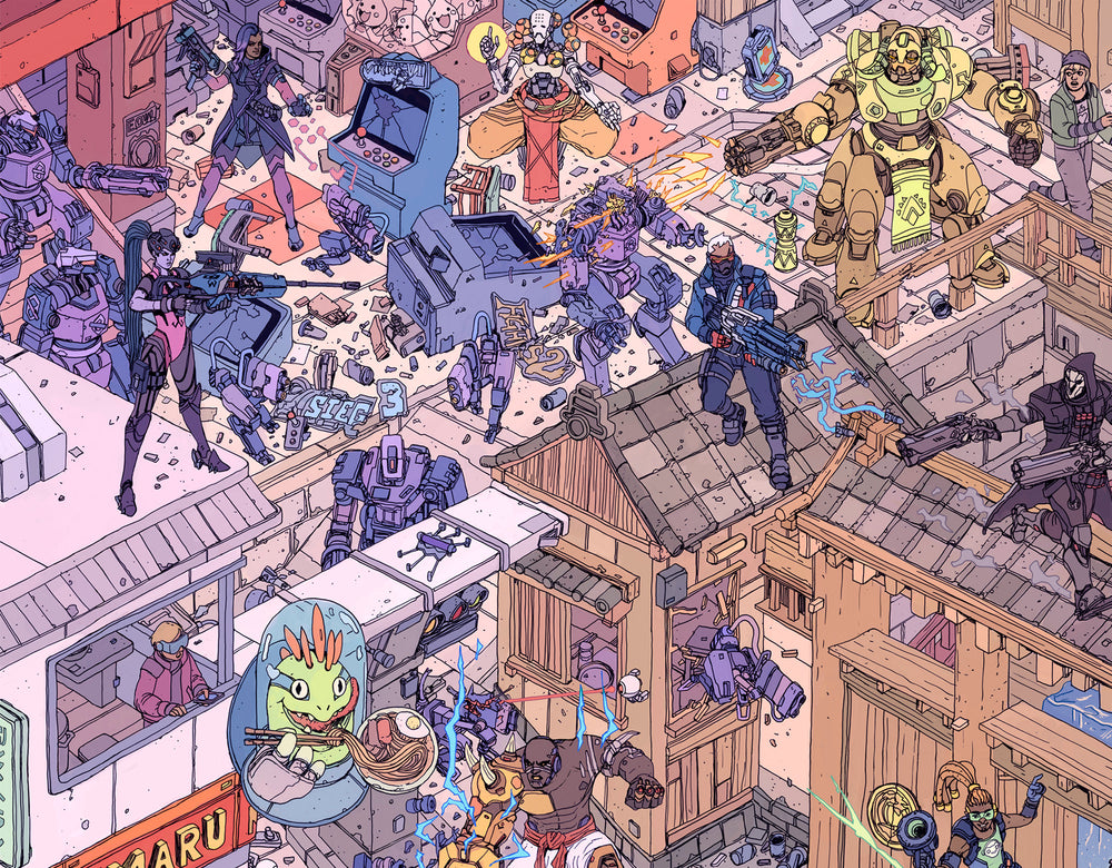 Isometric Poster (The Raid and/or Hanamura Showdown)
