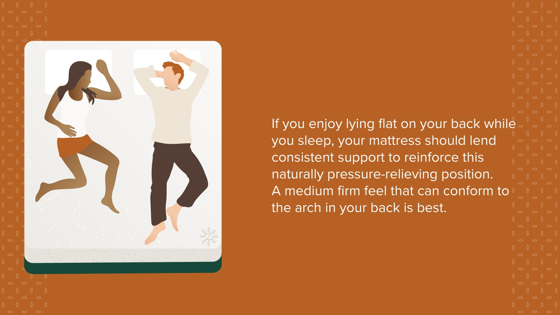 back sleeper your mattress should lend consistent support to reinforce this naturally pressure-relieving position