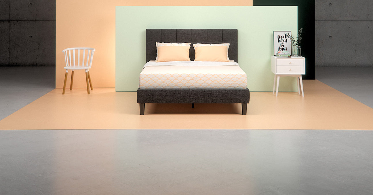 Directions Zinus Upholstered Platform Bed