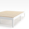 Moiz wood platform bed frame White Thumbnail
